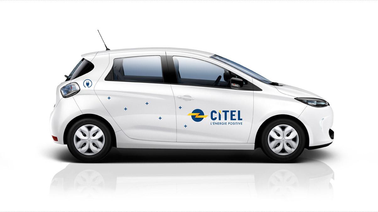 Affichage de la nouvelle identité sur un véhicule électrique