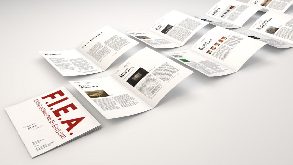 Vue des différentes pages du programme du festval